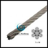 Stainless Steel Cable - 7x19 Aircraft Cable Type 316(Linear Foot)