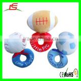 Lovely Plush Football Baby Hand Toys Plush Rugby Toys Baby Rattle