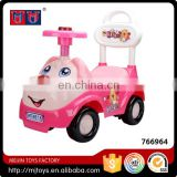 Children cute pink dog ride on car for girl with music steering wheel control