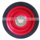 5 inch semi-pneumatic rubber wheel for shopping cart, trolley, luggage