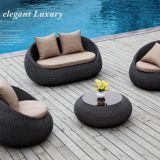 Outdoor Sofa Double seat Single Sofa PE Rattan Weave Alu Frame 10cm Cushion TaiWan Olifen Fabric