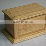Bamboo funeral casket funeral bier with carving