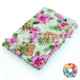 Pink Flower Woven Cotton Materials For Girl Women Dress Printed Fabric Sofa Cover Fabrics