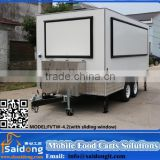 Multifunctional customized logo fast food van equipments / mobile shop kiosk / street beverage kiosk food with unique design