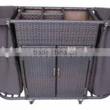 PE Rattan Hotel Hand Service Trolley