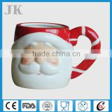 Promotional classic ceramic santa claus mug with 3D design