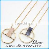 Wholesale 18k gold color meaningful crystal necklace jewellery pendant necklace
