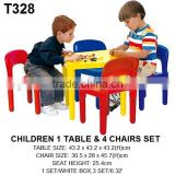 Kids plastic 1-table and 4-chairs