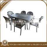 2015 New product Outdoor furniture set chair and table set garden patio furniture aluminum casting cafe chairs and tables