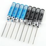 4PCS Hex Screw Driver Tool Kit For RC Helicopter Plane Transmitter Car Blue Brand New