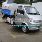 China cheapest 4x2 dongfeng mini 3m3 hook lift waste collection truck for sale