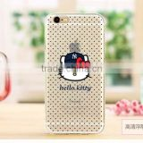 Cartoon Hello Kitty pattern Flip TPU Case Cover for Apple iPhone 5 5S 6 6S plus
