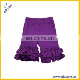 Cheap Wholesale Mesh Polyester Girls Icing Ruffle Shorts