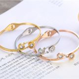 Gold Rose Gold Silver PVD Plating Mens Womens Stainless Steel Bracelets