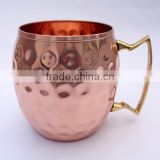 DEEPLY HAMMERED 100% COPPER MOSCOW MULE MUGS