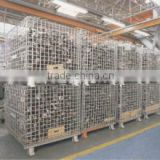 Storage Warehouse Logistic Galvanized Steel Roll Container Roll Cage Wire Panel