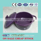 Wholesale stocked painting ceramic Soup Bowl With Lid