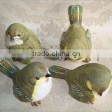 artificial plastic garden decoration polyresin miniature bird