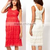 hot sale maternity tank midi dress in lace,woman maternity wear,wholesale lace maternity clothes cheap