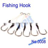 High Quality 6PCS Strength Metal Fishing Hook with Rope