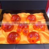 HOT Selling Anime DragonBall Z dolls toy DragonBall Z 3.5CM Replica Crystal Ball Set of 7pcs