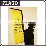 Yellow rectangle backpack flag,outdoor backpack flag for exhibition,high quality backpack feather flag