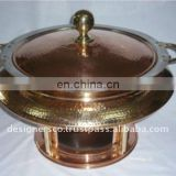 Copper and Brass Food Warmer Chafing Dish