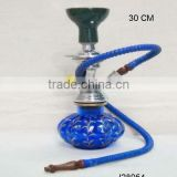 Hand painted pumkin shape base Glass Hookah with metal and ceramic parts