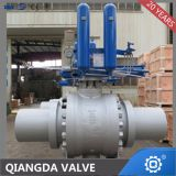 Api6D fully welded pipeline trunnion mounted ball valve