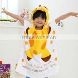 100% cotton breathable cow design baby bath robe/kids bath robes