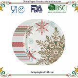 Hot Sale Performa Peaceful Snow Holiday Disposable Dinner Paper Plates