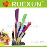4pcs Ceramic knife set with Acrylic block.