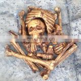 Halloween Skeleton Bones in a net bag, Halloween Mummification Bag of Bones