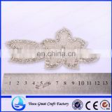 Exquisite handmade jaw drill with crystal flower rhinestone wedding apparel accessories, the bride, satin belt