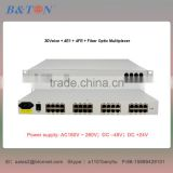 30 channel voice fxo/fxs over fiber PCM multiplexer 30Voice + 4E1 + 4FE Fiber Optic Multiplexer