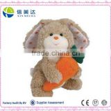 25cm Promotional Easter Day Gift Plush Rabbit with Carrot