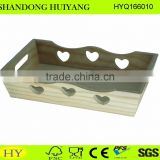natural unfinished pine wood tray wholesale
