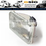 <b>5</b> Square 12V / 24V Auto Halogen mirror Semi Sealed Beam Auto Halogen <b>Lamp</b> Install H4 or <b>HID</b> H4 <b>Xenon</b> Bulb