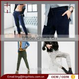 Women Loose Fit Joggers With Elastic Cuffs