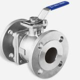 stainless steel 2-pc flanged ball valve with direct mounting pad  JIS standard