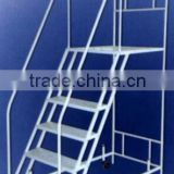 Iron Material Open Folding Mobile Staircases