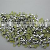 Octagon shaped beads China quality Aluminum Gold 3mm Rhinestud Hot Fix Octagon