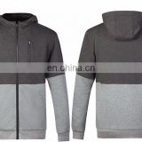 custom the dark and light grey combination color hoodie for women