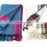 Azo Free Promotion 100% Cotton Woven Towel Pareo for Beach