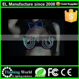 new arrival performance EL wire light up used for sale heated bra
