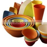 Hot-sell Eco Bamboo Fiber Salad Bowl with different shape