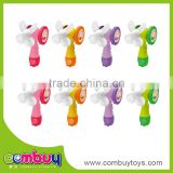 Hot selling plastic portable hand toy mini battery operated fan for kids