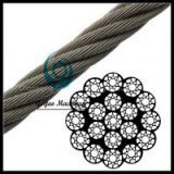 Compacted Bright Wire Rope EIPS IWRC 19x19(Rotation Resistant)(Linear Foot)