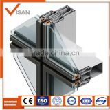 6063T5/6061T6 Aluminum glass curtain wall frame extrusion with anodized silver/sand coating
