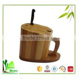 Quality-Assured bamboo knife block without knives